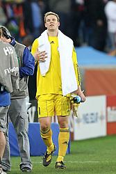 07.07.2010, Moses Mabhida Stadium, Durban, SOUTH AFRICA, Deutschland ( GER ) vs Spanien ( ESP ) im Bild Manuel Neuer of Germany after the final whistle.Foto ©  nph /  Kokenge / SPORTIDA PHOTO AGENCY