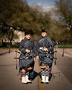 Cadets Caroline Klauber and Patricia Beltramo pose for a portrait after retreat parade on Friday, March 6, 2020.<br /> <br /> Credit: Cameron Pollack / The Citadel