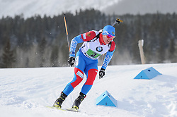 February 8, 2019 - Calgary, Alberta, Canada - Latypov Eduard is competing during Men's Relay of 7 BMW IBU World Cup Biathlon 2018-2019. Canmore, Canada, 08.02.2019 (Credit Image: © Russian Look via ZUMA Wire)