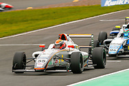 Carter Williams(USA) JHR Developments leads the race during the FIA Formula 4 British Championship at Knockhill Racing Circuit, Dunfermline, Scotland on 15 September 2019.