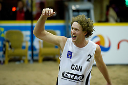 08-01-2011 VOLLEYBAL: CEV SATELLITE INDOOR BEACHVOLLEYBALL: AALSMEER<br /> The first CEV Indoor beachvolleyball tournament / Chaim Schalk CAN<br /> ©2011-WWW.FOTOHOOGENDOORN.NL / Peter Schalk