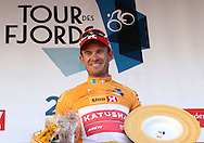 Alexander Kristoff of Norway celebrates winning stage 5 of the Tour des Fjords 2016, Stavanger, Norway on 4 September 2016. The stage victory ensured Kristoff won his home tour in his home town of Stavanger. Photo by Andrew Halseid-Budd.