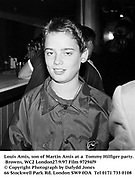 Louis Amis, son of Martin Amis at a  Tommy Hilfiger party. Browns, WC2 London27/9/97 Film 97294f9<br />© Copyright Photograph by Dafydd Jones<br />66 Stockwell Park Rd. London SW9 0DA<br />Tel 0171 733 0108