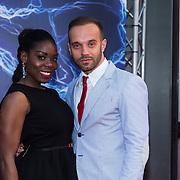 NLD/Amsterdam/20140422 - Premiere The Amazing Spiderman 2, Imanuelle Grives en partner