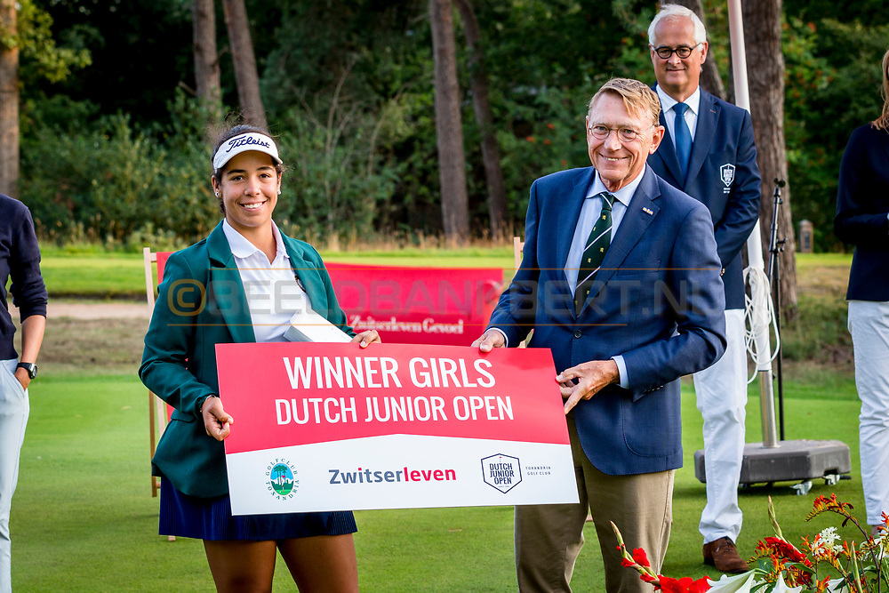 20-07-2019 Pictures of the final day of the Zwitserleven Dutch Junior Open at the Toxandria Golf Club in The Netherlands.<br /> Sofia Garcia, winner DJO 2019