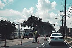 THEMENBILD - ein Arbeiter in einer Baustelle, aufgenommen am 26.08.2018, Metairie, Vereinigte Staaten von Amerika // a worker in a construction site, Metairie, United States of America on 2018/08/26. EXPA Pictures © 2018, PhotoCredit: EXPA/ Florian Schroetter