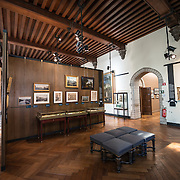 Exhibit hall at the Museum of the City of Brussels. The museum is dedicated to the history and folklore of the town of Brussels, its development from its beginnings to today, which it presents through paintings, sculptures, tapistries, engravings, photos and models.