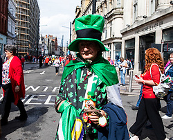 An Ireland fan enjoying the pre match atmosphere<br /> <br /> Photographer Simon King/Replay Images<br /> <br /> Friendly - Wales v Ireland - Saturday 31st August 2019 - Principality Stadium - Cardiff<br /> <br /> World Copyright © Replay Images . All rights reserved. info@replayimages.co.uk - http://replayimages.co.uk
