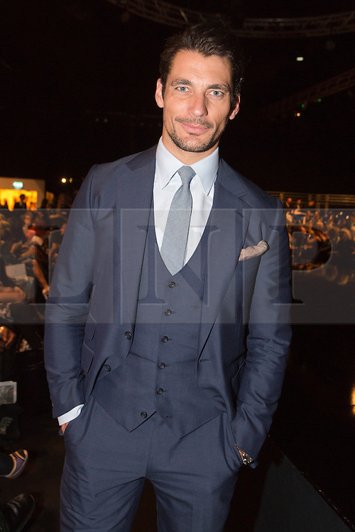 © Licensed to London News Pictures. 05/06/2013. London, England. Model David Gandy attends the Gala Show at Earl's Court 2. Graduate Fashion Week 2013 showcasing student collections took place at Earl's Court II from 2 to 5 June 2013. Photo credit: Bettina Strenske/LNP