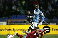 11.11.2012<br /> Sandnes Ulf v Strømsgodset.<br /> Sandnes Stadion, Sandnes, Norge.<br /> <br /> Foto. Simon Rogers, Digital Sport.<br /> <br /> Sandnes. Sean McDermott<br /> Strømsgodset. Adama Diomande.