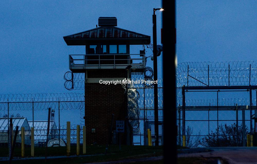 An Attica Prison entrance gate in Attica, N.Y., Wedneday, Nov. 15, 2017. <br /> (Photo by Heather Ainsworth)
