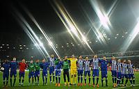 Fotball<br /> Tyskland<br /> 06.11.2015<br /> Foto: Witters/Digitalsport<br /> NORWAY ONLY<br /> <br /> Per Ciljan Skjelbred (Berlin)<br /> Rune Almenning Jarstein<br /> Schlussjubel Berlin<br /> Fussball Bundesliga, Hannover 96 - Hertha BSC Berlin