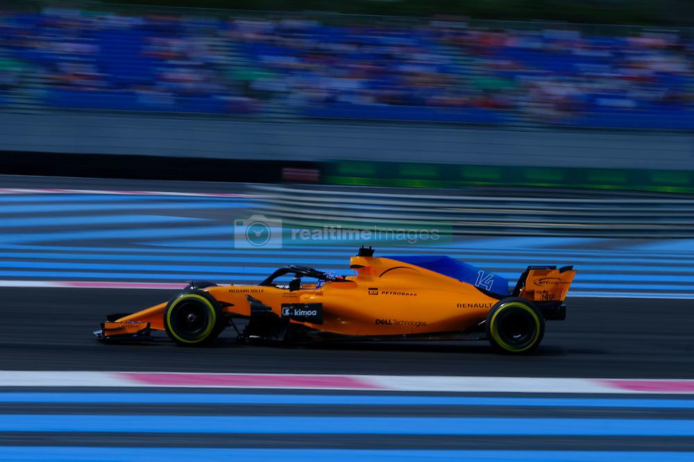 June 22, 2018 - Le Castellet, Var, France - McLaren 14 Driver FERNANDO ALONSO (ESP) in action during the Formula one French Grand Prix at the Paul Ricard circuit at Le Castellet - France (Credit Image: © Pierre Stevenin via ZUMA Wire)