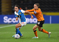 Blackburn Rovers' Joseph Rankin-Costello battles with Hull City's Jackson Irvine<br /> <br /> Photographer Dave Howarth/CameraSport<br /> <br /> The Premier League - Hull City v Blackburn Rovers - Tuesday August 20th 2019  - KCOM Stadium - Hull<br /> <br /> World Copyright © 2019 CameraSport. All rights reserved. 43 Linden Ave. Countesthorpe. Leicester. England. LE8 5PG - Tel: +44 (0) 116 277 4147 - admin@camerasport.com - www.camerasport.com