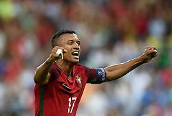 Nani of Portugal celebrates Winning the Uefa European Championship on the final whistle  - Mandatory by-line: Joe Meredith/JMP - 10/07/2016 - FOOTBALL - Stade de France - Saint-Denis, France - Portugal v France - UEFA European Championship Final
