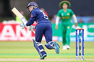 England womens cricket player Heather Knight (capt) with a boundary to fine leg during the ICC Women's World Cup match between England and Pakistan at the Fischer County Ground, Grace Road, Leicester, United Kingdom on 27 June 2017. Photo by Simon Davies.