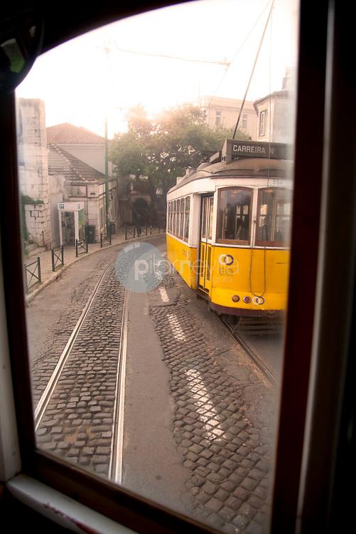 Classic old tram in the streets of Alfama in Lisbon, Portugal © / PILAR REVILLA