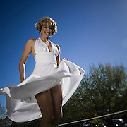 Young Woman dressed as Marilyn Monroe