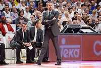 Unicaja Malaga's coach Joan Plaza during semi finals of playoff Liga Endesa match between Real Madrid and Unicaja Malaga at Wizink Center in Madrid, June 02, 2017. Spain.<br /> (ALTERPHOTOS/BorjaB.Hojas)