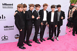 Music group BTS at 2017 Billboard Music Awards held at T-Mobile Arena on May 21, 2017 in Las Vegas, NV, USA (Photo by Jason Ogulnik) *** Please Use Credit from Credit Field ***
