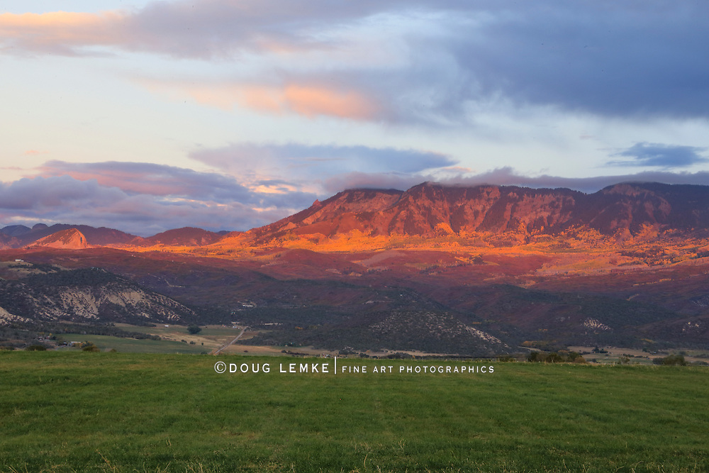 Mountain Peak at sunset near The Black Canyon of the Gunnison National Park, Colorado, USA