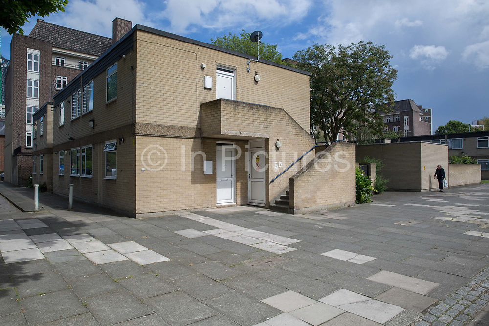 Knights Walk Estate in the London Borough of Lambeth on 15th June 2016 in London, United Kingdom. Knights Walk was designed by the architect George Finch, especially for the elderly or people with disabilities and forms part of the Cotton Garden Estate. It was built between 1969-1972