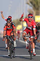 Arrival, KRISTOFF Alexander (NOR) Katusha, winner, VAN AVERMAET Greg (BEL) BMC,  KUZNETSOV Viacheslav (RUS) Katusha, during the 15th Tour of Qatar 2016, Stage 4, Al Zubarah Fort - Madinat Al Shamal (189Km), on February 11, 2016 - Photo Tim de Waele / DPPI