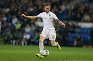Pontus Jansson of Leeds Utd in action. EFL Skybet championship match, Cardiff city v Leeds Utd at the Cardiff city stadium in Cardiff, South Wales on Tuesday 26th September 2017.<br /> pic by Andrew Orchard, Andrew Orchard sports photography.