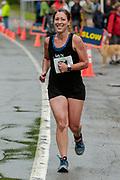 Whitney Burns during the run segment in the 2018 Hague Endurance Festival Sprint Triathlon