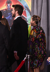 Marvel's 'Thor: Ragnarok' World Premiere held at the El Capitan Theatre. 10 Oct 2017 Pictured: Liam Hemsworth and Miley Cyrus. Photo credit: O'Connor/AFF-USA.com / MEGA TheMegaAgency.com +1 888 505 6342