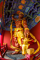 Guardian statue, Chongsheng Temple, Dali, Yunnan Province, China. The temple dates from the 9th and 10th centuries.