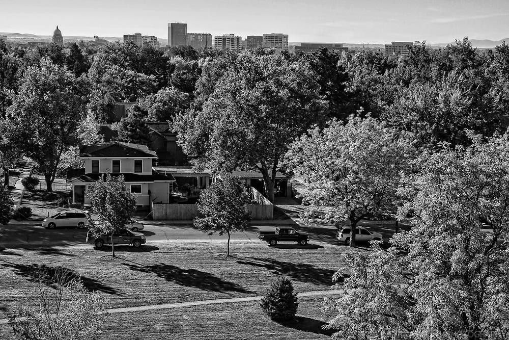 North End Neighborhood, Boise (monochrome)
