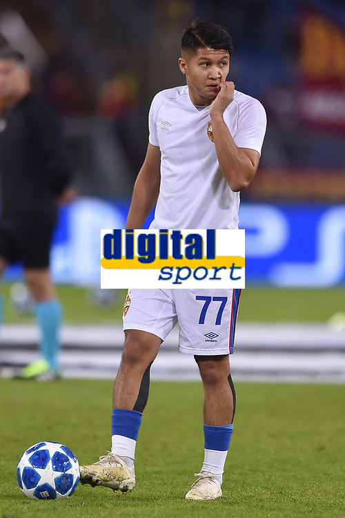 Ilzat Akhmetov CSKA<br /> Roma 23-10-2018 Stadio Olimpico<br /> Football Calcio UEFA Champions League 2018/2019, Group G. <br /> AS Roma - CSKA Moscow<br /> Foto Antonietta Baldassarre / Insidefoto