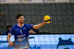Sam Gortzak of Lycurgus in action during the second final league match between Amysoft Lycurgus vs. Draisma Dynamo on April 24, 2021 in Groningen.