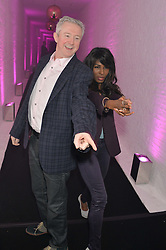 LOUIS WALSH and SINITA at The London Cabaret Club Gala Launch Party at The Collection, 264 Brompton Road, London on 8th May 2014.