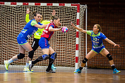 Polona Baric and Teja Ferfolja of Slovenia during friendly game between national teams of Slovenia and Serbia on 29th of September, Celje, Slovenija 2018