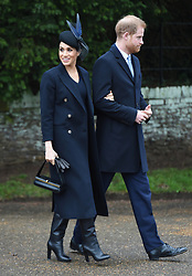 The Duke and Duchess of Sussex arriving to attend the Christmas Day morning church service at St Mary Magdalene Church in Sandringham, Norfolk.