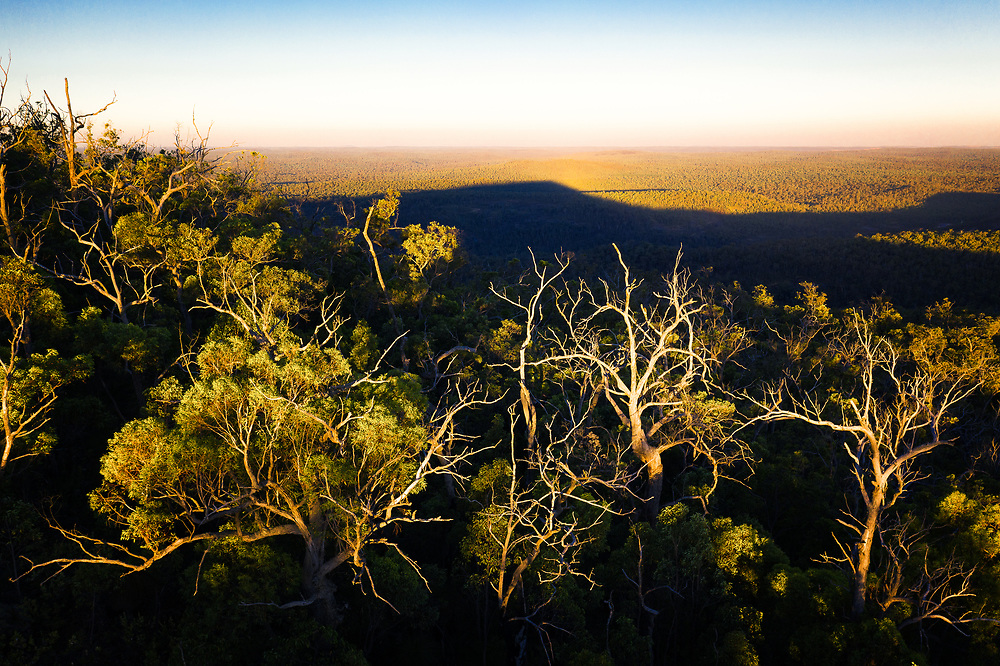 Sunset on the top of Mount Dale in Helena National Park Western Australia