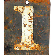 Damaged number one plate