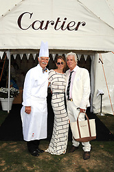 Left to right, ANTON MOSIMANN, COLETTE VAN DEN THILLART and NICKY HASLAM at the Cartier International Polo at Guards Polo Club, Windsor Great Park on 27th July 2008.<br /> <br /> NON EXCLUSIVE - WORLD RIGHTS