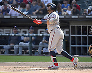 CHICAGO - JUNE 29:  Nelson Cruz #23 of the Minnesota Twins bats against the Chicago White Sox on June 29, 2019 at Guaranteed Rate Field in Chicago, Illinois.  (Photo by Ron Vesely)  Subject:  Nelson Cruz