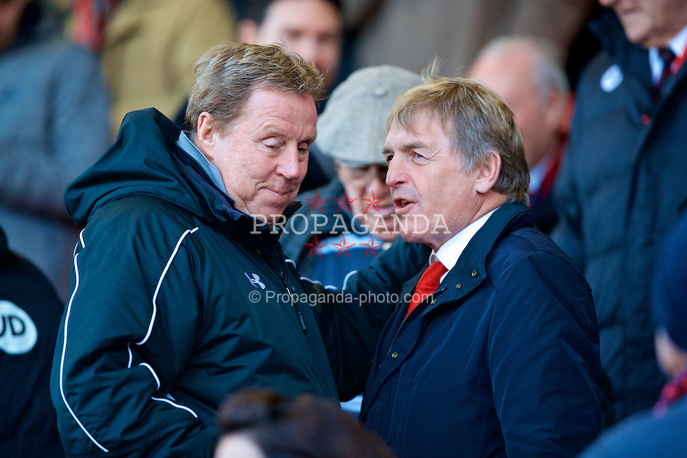 BOURNEMOUTH, ENGLAND - Sunday, December 4, 2016: Liverpool's non-executive director Kenny Dalglish chats with Harry Redknapp before the FA Premier League match against AFC Bournemouth at Dean Court. (Pic by David Rawcliffe/Propaganda)