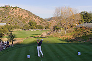 Zach Johnson tees off on hole 16 during Round 4 of the 2011 Chevron World Challenge at the Sherwood Country Club in Thousand Oaks, Calif., on Sunday, Dec. 4, 2011.