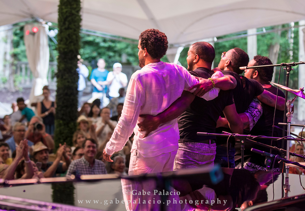 Pedrito Martinez Group performing at the Caramoor Jazz Festival, presented in collaboration with Jazz at Lincoln Center, at Caramoor in Katonah New York on July 15, 2017. <br /> (photo by Gabe Palacio)
