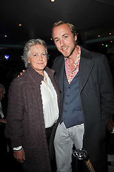 SAM PELLY and his mother AMANDA PELLY at a screening of the short film 'The Volunteer' held at the Courthouse Hilton Hotel, 19-21 Great Marlborough Street, London W1 on 26th October 2009.