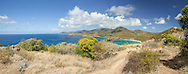 A sweeping view of the south coast of St John from high up on the Ram Head Trail.