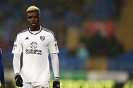 Sheyi Ojo of Fulham looks on. EFL Skybet championship match, Cardiff city v Fulham at the Cardiff city stadium in Cardiff, South Wales on Boxing Day, Tuesday 26th December 2017.<br /> pic by Andrew Orchard, Andrew Orchard sports photography.