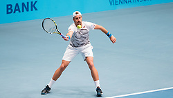 24.10.2016, Stadthalle, Wien, AUT, ATP Tour, Erste Bank Open, 1. Runde, im Bild Steve Johnson (USA)// Steve Johnson of the United States of America during the 1st round match of Erste Bank Open of ATP Tour at the Stadthalle in Vienna, Austria on 2016/10/24. EXPA Pictures © 2016, PhotoCredit: EXPA/ Sebastian Pucher