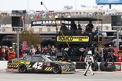 November 3, 2018 - Ft. Worth, Texas, United States of America - John Hunter Nemechek (42) comes down pit road for service during the O'Reilly Auto Parts Challenge at Texas Motor Speedway in Ft. Worth, Texas. (Credit Image: © Justin R. Noe Asp Inc/ASP via ZUMA Wire)