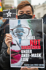 2019-10-05 Hong Kong No Mask Law protest